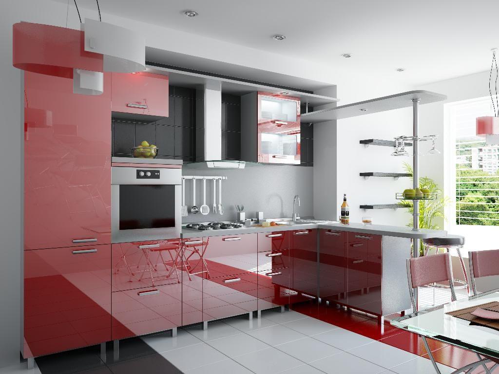кухня с акрилом